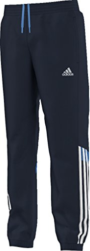(adidas Kids Pant Boys Tracksuit Woven 3 Stripe Pant Navy 7-14 Years New S22155 (7/8 Years))
