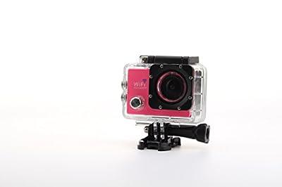 Uniquer Sport DV SJ9000 WiFi 14MP 170 Degree 1080P Digital Waterproof Helmet Sports Action Car Camera Rose
