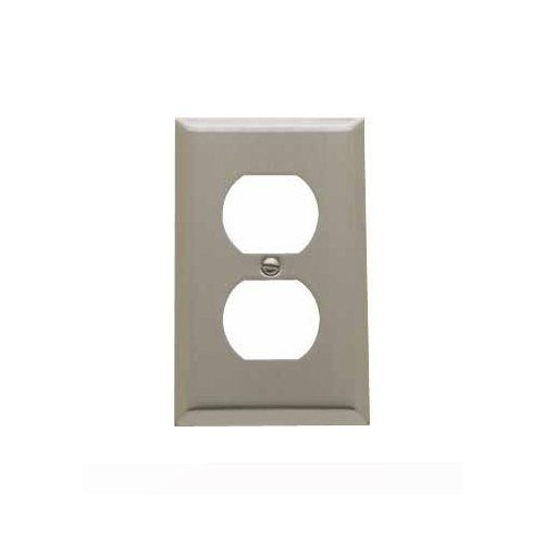 Baldwin 4752.150.CD Classic Square Beveled Edge Duplex Switch Plate, Satin