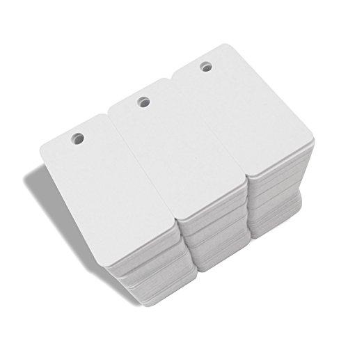 - 3-up Breakaway Key Tags, White Blank Inkjet PVC Cards CR80 30Mil Plasitc ID Cards (50)