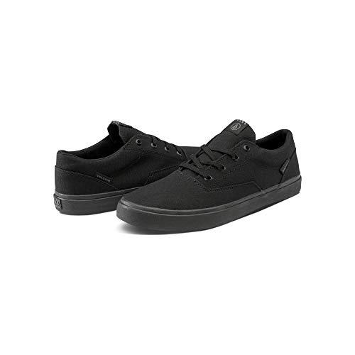 Volcom Men's Draw LO Canvas Vulcanized Skate Shoe Black Out Out, 9 D US