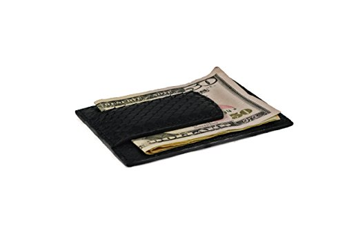 python clip money magnetic Black wallet pocket wallet leather genuine Leather genuine EUg0xwZUq