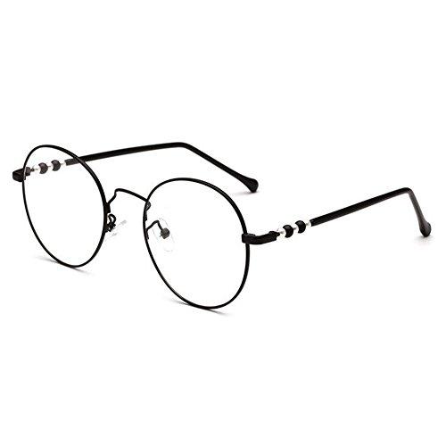 61c6400026 Hzjundasi Retro/Vintage Redondo Metal Marco Gafas Elegante Bisagra  Transparente Lente Gafas por Mujer Barato