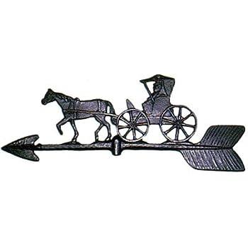metal weathervanes amazoncom prancing horse weather vane topper black metal
