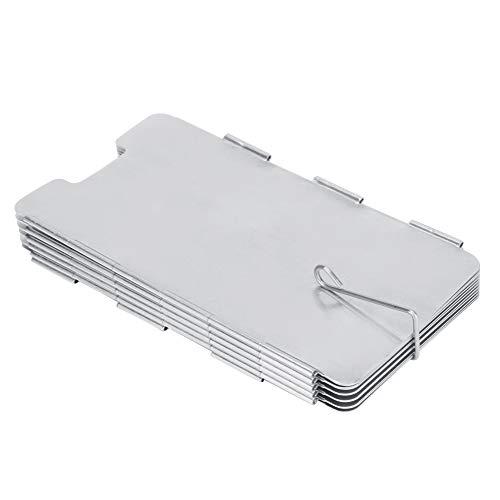 11 platen kachel windscherm, opvouwbare camping kachel windscherm lichtgewicht camping grill accessoires