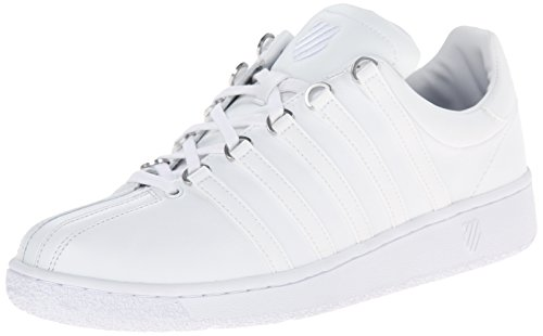 K-Swiss Men's Classic Vintage Updated Iconic Shoe, White/White, 10.5 M US