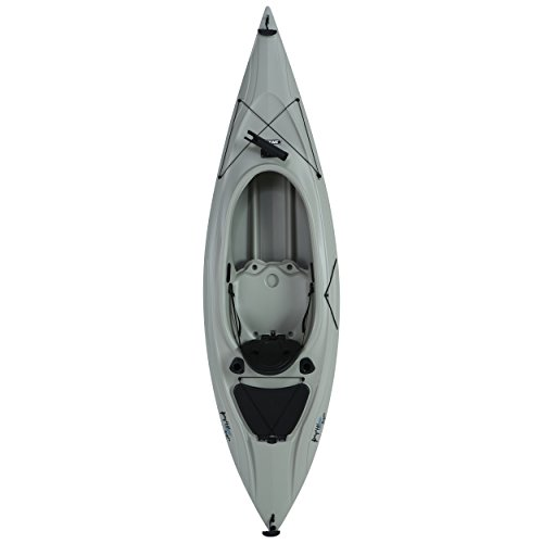 Kayak 116 (Lifetime Payette Sit-Inside Angler Kayak with Paddle, Sandstone, 116