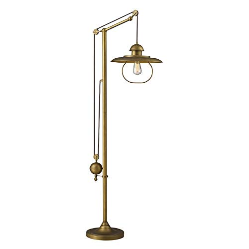 (Dimond 65101-1 15 by 69-Inch Farmhouse 1-Light Floor Lamp, Antique Brass Finish)