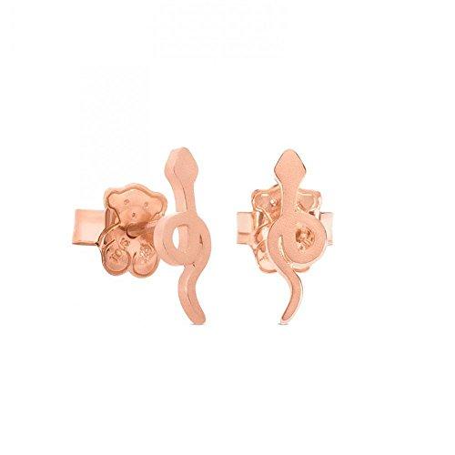 TOUS Idol Snake Rose Gold-Plated Stud Earrings