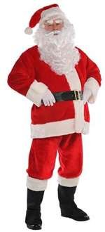 Plush Santa Suit Adult Costume - X-Large (X-large Santa)