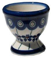 Polish Pottery Egg Cup From Zaklady Ceramiczne Boleslawiec #203-166a Floral Peacock Pattern
