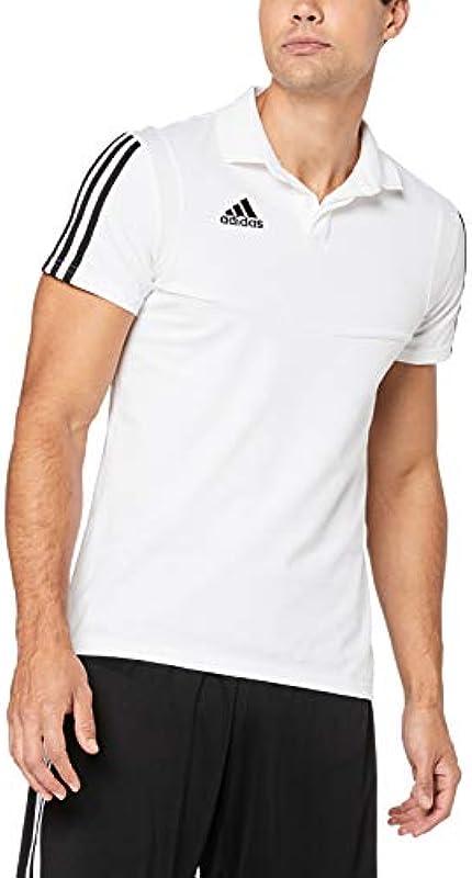 adidas TIRO19 CO koszulka polo, biała/czarna, M: Odzież