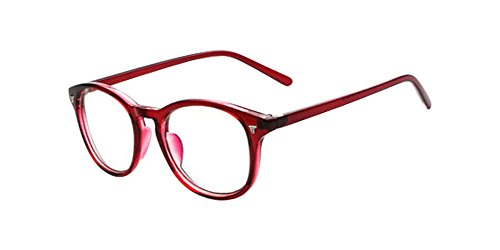 Wine Red Vintage Men Women Eyeglass Frame Glasses Retro Spectacles Clear Lens Eyewear - Rx Spectacle Lens