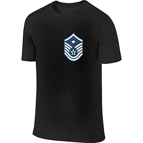 Air Force Master Sergeant 1st SGT Diamond Rank Mans Polyester Short Sleeve T Shirts Black