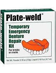 Plate-weld Temporary Emergency Denture Repair Kit, Pack of 4