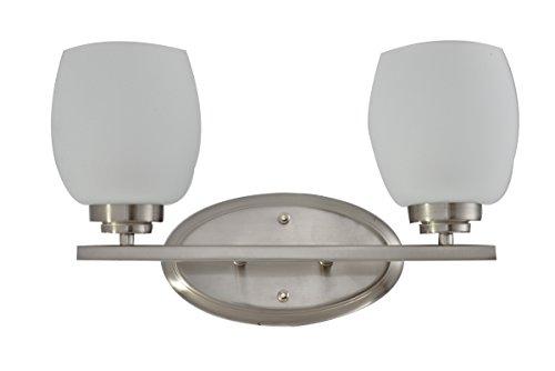 Brushed Nickel 2 Globe Vanity Bath Light Bar Interior: IN HOME 2-Light Bath Bar Light Up Or Down, Interior