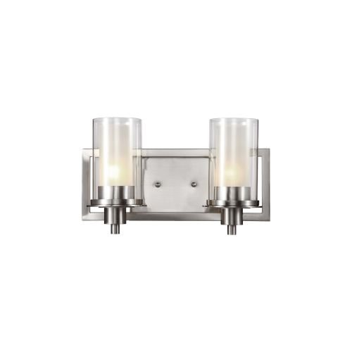 Trans Globe Lighting 20042 Nickel Square Double Wall Sconce