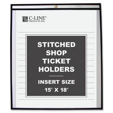 Shop Ticket Holder, Stitched, 4''x6'', 25/BX, Clear Vinyl, Sold as 1 Box, 25 Each per Box
