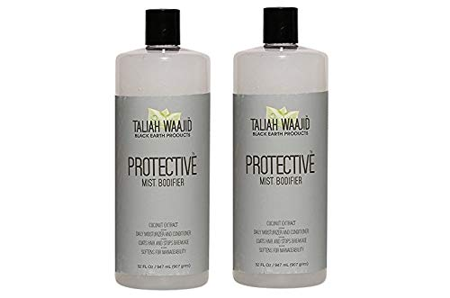(Taliah Waajid Black Earth Natural Protective Mist Bodifier Leave-In Conditioner, 32 oz - Eliminates Breakage & Split Ends - Infused with Olive Oil, Wheat Germ Extract & Coconut Oil (2PCS))