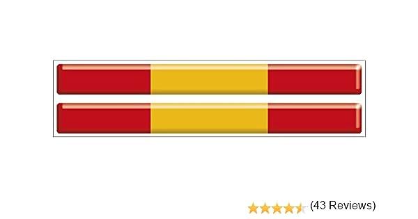 Artimagen Pegatina Bandera Rectángulo Fino Grande España 2 uds. 100x10 mm/ud. Resina: Amazon.es: Coche y moto