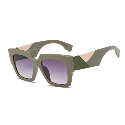 Weiß Schwarz Leoprad Schattierungen C2 Sobredimensionado C2 Sunglsses Marke Moda Gafas Retro Quadratischen Diseño KXLEB Frauen 1azqxwv