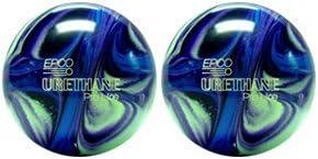 EPCO Duckpin Bowling ball- 2ウレタンpro-line – パープル、ブルー&ミントボール  5 inch- 3lbs. 12 oz.