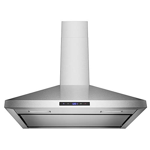 Golden Vantage 30″ Wall Mount Stainless Steel Touch Control Range Hood Control Light Lamp Kitchen Vents
