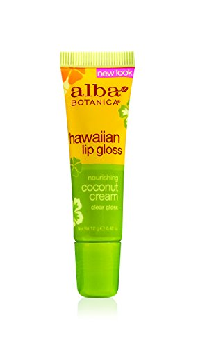 Alba Botanica Hawaiian, Coconut Cream Clear Lip Gloss, 0.42