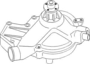John Deere Water Pump Assembly AR98549 Fits JD 4040, 4230