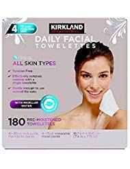 Kirkland-Signature Daily Facial Towellettes, 4.53 Pound (180 Count, 2-Boxes)
