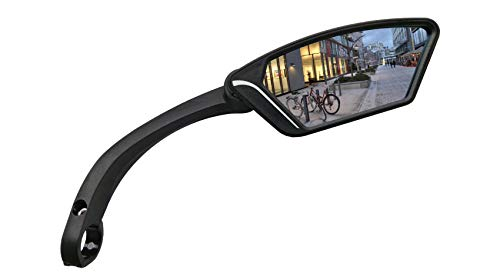 MEACHOW 2018 Scratch Resistant Glass Lens,Handlebar Bike Mirror, Rotatable Safe Rearview Mirror, Bicycle Mirror (Sliver Right Side) ME-002RS