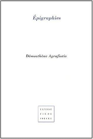 Lire un Epigraphies epub, pdf