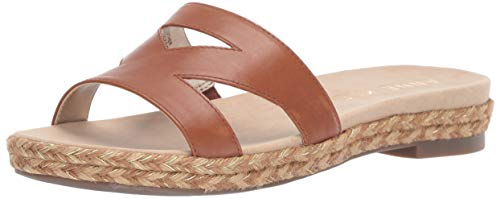 Anne Klein Women's Doris Slide Sandal, Tobacco, 10 M US