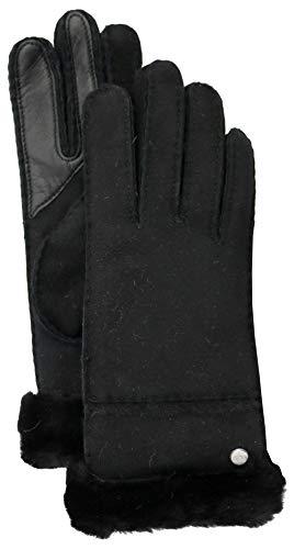 (UGG Women's W Seamed Tech Glove, Black, m)