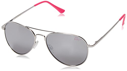 Betsey Johnson Women's Madison Aviator Sunglasses, Silver, 58 - Sunglasses Case Betsey Johnson