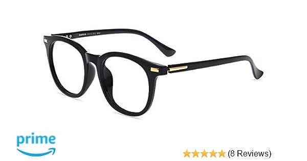 463f5f120d Amazon.com  Firmoo Blue Light Blocking Glasses Filter UV Glare Retro Round  TR Ultra Lightweight Computer Game Glasses Anti Eyestrain Headache for Men  Women  ...