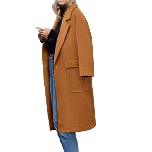 - Red Ta Women Plus Size Winter Long Sleeve Turn-down Collar Top Overcoat,Ladies Solid Color Jacket Outerwear With Pocket