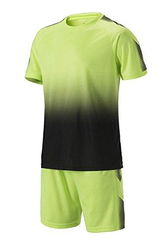 Bozevon Verde Sportivo Competizione Abbigliamento Uomo Allenamento Costume Bambino E Calcio T shirt Di Pantaloncini F6qFrgx