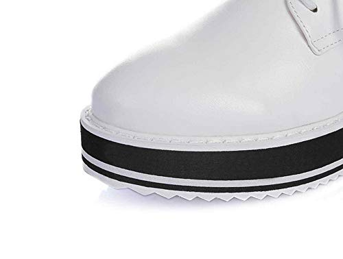 36 5 Blanc Blanc SDC05908 Femme Plateforme AdeeSu WRwxqpYXn