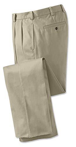Orvis Men's Wrinkle-Free Cotton Stretch Chinos Pleated, Khaki, Cuffed, 34W X 32L