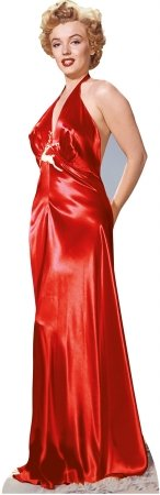 Star Cutouts SC245 Marilyn Monroe Red Gown Cardboard Stand Ups