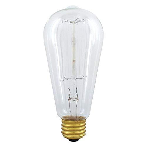 - GE Vintage 60-Watt Dimmable Soft White St19 Vintage Incandescent Light Fixture Light Bulb