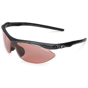 Tifosi Slip T-V141 Shield Sunglasses,Carbon Frame/High Speed Red Fototec Lens,One Size