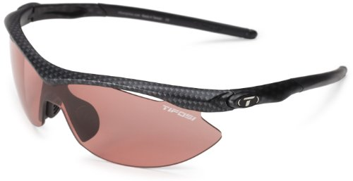 Tifosi Slip T-V141 Shield Sunglasses,Carbon Frame/High Speed Red Fototec Lens,One - Triathlete Sunglasses