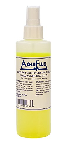 - Aquiflux Self Pickling Flux for Precious Metals Gold Silver Jewelry and Hard Soldering 8 oz (Half Pint)