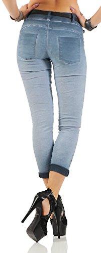 ZARMEXX Pantalones Chinos Jeggings de las mujeres imprimen en dos versiones de los modelos 10912 azul sin brillo
