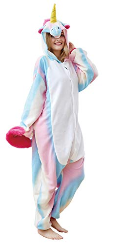 Xiqupjs Unisex Adult Unicorn Cosplay Costumes Animal Onesies