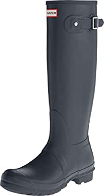 Hunter Womens Original Tall Boot Original Tall Gray Size: 5