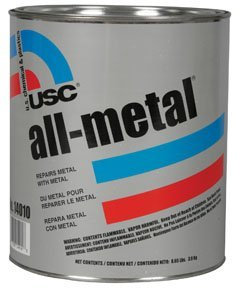 USC 14060 All-Metal Specialty Body Filler 1 QUART w/ Hardener by UCS (Usc Metal)