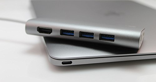 Juiced Systems BizHUB USB-C Multiport Gigabit HDMI Hub, 3x USB 3.0 Ports, Gigabit Ethernet, HDMI 4K, SD/Micro SD, USB-C Power Delivery by Juiced Systems (Image #7)